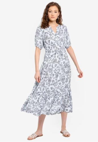 3bd9f13d07 Buy GAP Petite Short Sleeve Tiered Maxi Dress Online | ZALORA Malaysia