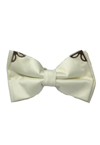 Splice Cufflinks white Modish Series Pearl White Polyester Pre-Tied Bow Tie SP744AC82FIVSG_1