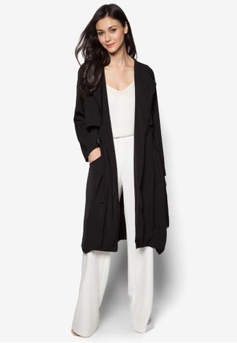大翻領長版外esprit女裝套, 服飾, 夾克 & 大衣