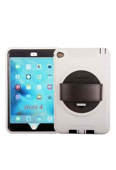 Shockproof Armor Case Silicone 360 Rotating Stand with Leather Belt for Apple iPad mini 4