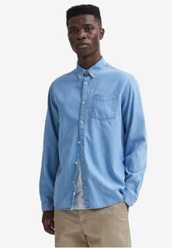 Selected Homme blue Stanley Shirt 9EA84AA09E449AGS_1