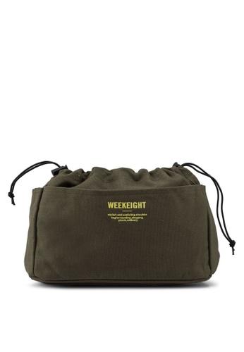 Bagstationz green Canvas Bag In Bag Organizer D854AAC2A7B7BEGS_1