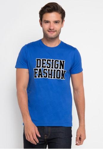 D&F blue T-Shirt Fashion Design DF100AA0URA6ID_1
