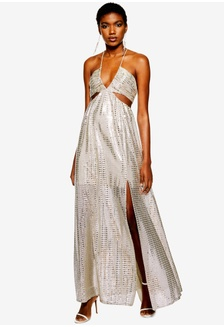 a8654008b88 Glitter Cutout Maxi Dress 10A0BAA8030275GS 1
