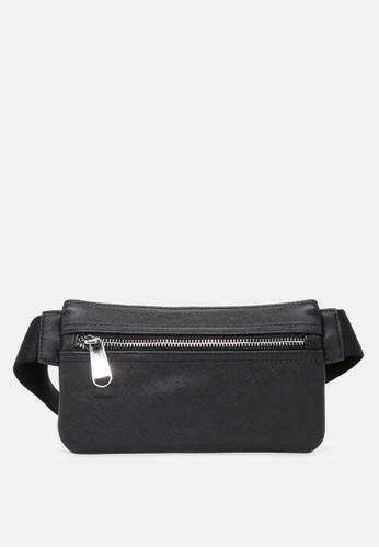 London Rag black Men's Solid Waist Bag CD5A4AC8B380FEGS_1