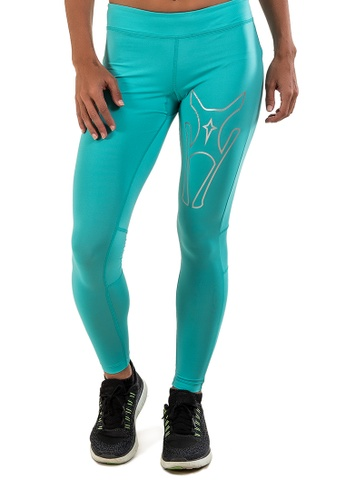 AMNIG green Amnig Women Maxforce Agile Compression Tight (Mint) 314FAAAB23CAB8GS_1