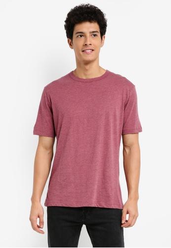 MANGO Man red Slub-Cotton T-Shirt E3502AAB407119GS_1