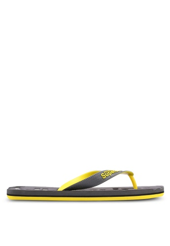 Superdry grey and yellow Scuba Faded Flip Flops 6B853SH44A3947GS_1