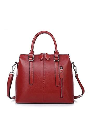 Twenty Eight Shoes red VANSA Vintage Burnished Leather Hand Bag VBW-Hb218 0A67CACD66227FGS_1