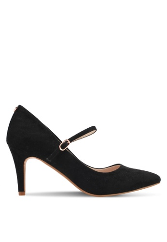 Velvet 黑色 Heel with Strap 25777SH44C4AA3GS_1