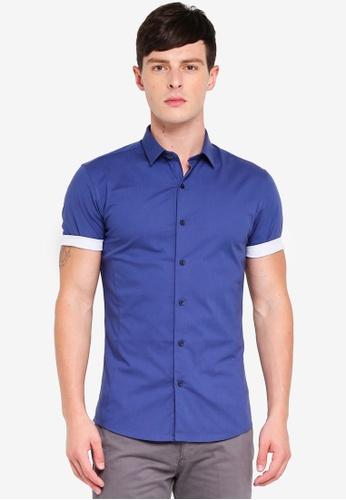Topman 海軍藍色 修身襯衫 1552CAA238DACEGS_1