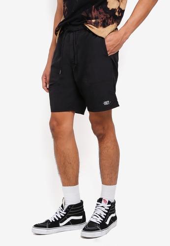 OBEY black Dolo Shorts 48FDDAA34A6E14GS_1