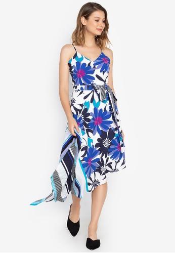Josie multi Bold Floral A-Sym Dress C8945AA98130BEGS_1
