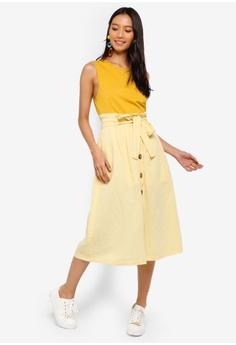651744cb17 40% OFF TOPSHOP Linen Button Midi Skirt S$ 96.90 NOW S$ 57.90 Sizes 8 10 12