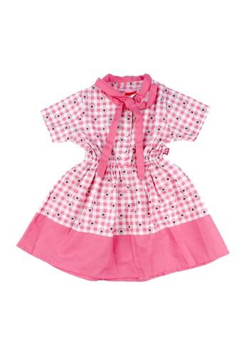 Pingu pink Pingu - Dress Anak Perempuan Printing Bunga - 90501612 BCD9CKA1E1F7E4GS_1