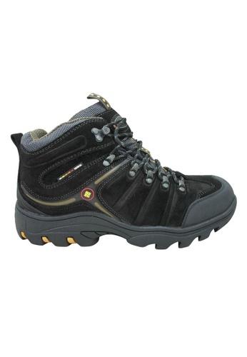 midzone black EGM Suede Leather Outdoor Boots MI949SH41LICMY_1