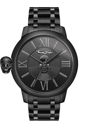"Thomas Sabo black Men's Watch ""REBEL WITH KARMA"" TH376AC0GM3NSG_1"