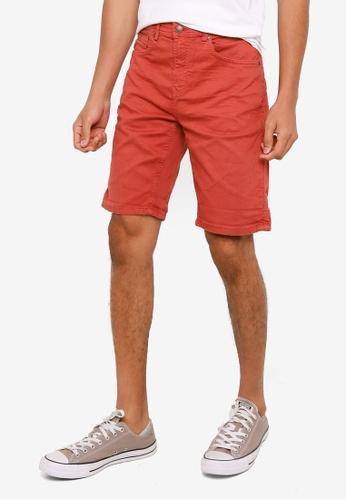 Springfield red Slim Denim Shorts B2573AA85864A4GS_1