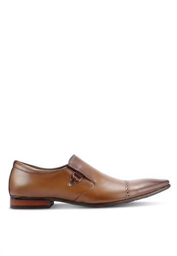 Frank Williams brown Leather Dress Shoes FR169SH0RE6KMY_1