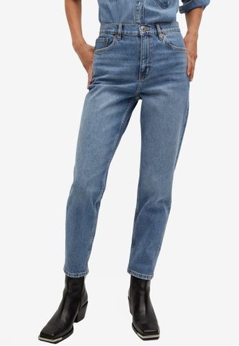 Mango blue Mom-Fit Jeans 94918AAE33F3E8GS_1