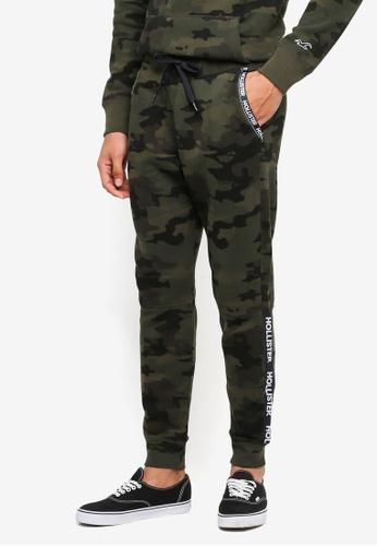 Hollister 綠色 休閒Logo修身棉褲 9E113AA19AF712GS_1