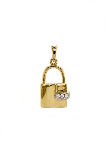 KARAT WORLD gold 18Kt Yellow and White Gold Pendant 0399CACB19436DGS_1