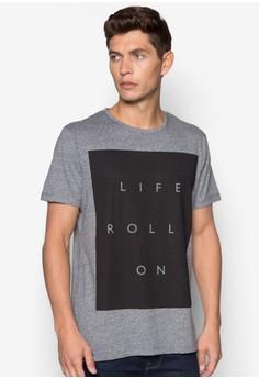 【ZALORA】 Life Rolls On 文字印花T 恤