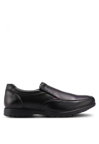 Bata black Bata Faux Leather Dress Shoes D17DFSH0008F1BGS_1