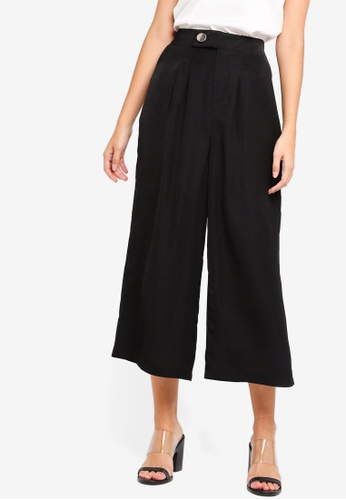 ZALORA black Wide Leg Trousers D447FAA93E0551GS_1