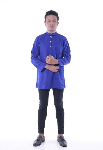 Denai Boutique blue Kurta Ubaid Royal Blue 28AD2AA75CA3C8GS_1