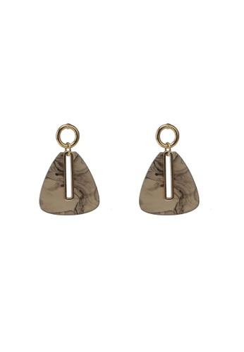 niko and ... brown Triangle Drop Earrings 62C78ACDF0CD2BGS_1