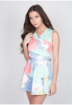 Casual Fit and Flare in Pastel Print