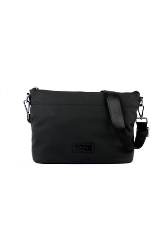 RENOMA Paris black Renoma Ladies Matt Nylon Sling Bag 1905094-00 15BD4AC8DBB27EGS_1