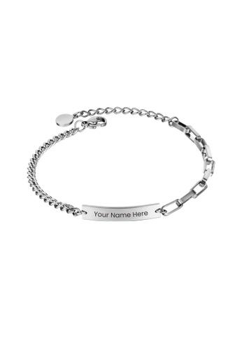 CELOVIS silver CELOVIS - Valor Engravable Tag Pendant Bracelet in Silver E5664AC7B03F44GS_1