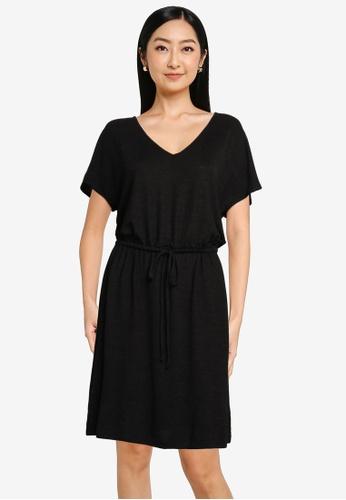 GAP black Relaxed V-Neck Dress D65BEAADD5DD6DGS_1