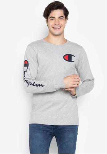 Champion grey Heritage Long Sleeve Tee 3F8E2AA0175451GS_1