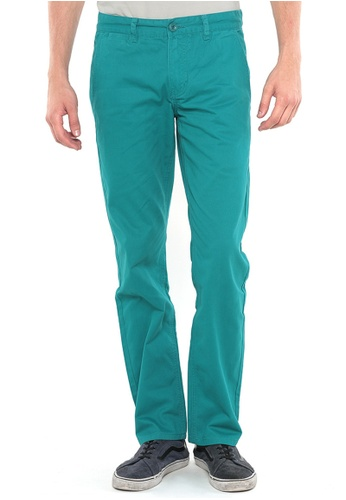 POLO HAUS green Polo Haus - Straight Cut Long Pant (Green) PO783AA70FSRMY_1