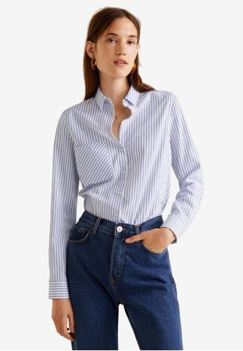 Mango multi Chest-Pocket Cotton Shirt 1B6A1AA7BE2BF1GS_1