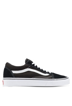 4db37e1dec143e VANS black and white Core Classic Old Skool Sneakers VA142SH90BQJSG 1