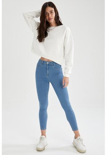 DeFacto blue High Waist Super Skinny Jeans 1F6DAAA11CE872GS_1