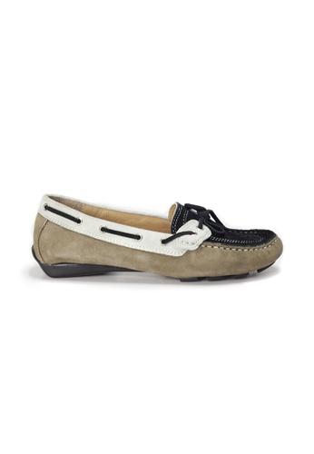 Shu Talk 褐色 AMAZTEP 真皮彩虹輕便豆豆鞋 (適合腳型偏闊) 7A537SH0FDA5CFGS_1