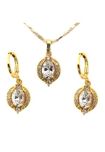 Jewelplace gold Multi Gem Flower Cubic Zircon Jewelery Set JE882AC47KJKPH_1