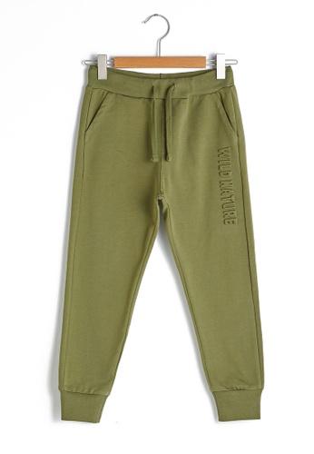 LC Waikiki green Elastic Waist Boy Jogger Trousers CFB9BKAC7D539AGS_1