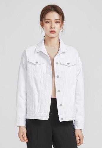 休閒日常白色純棉夾克, 服飾, esprit台灣門市外套