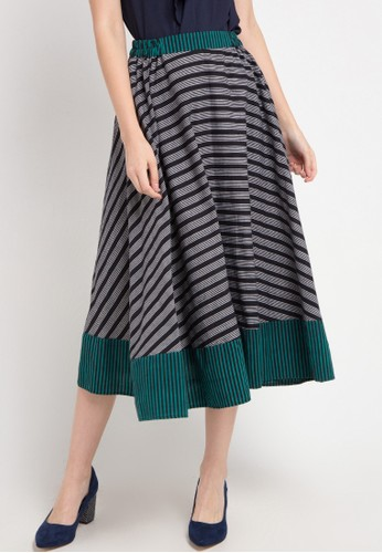Le Viel Batik multi and grey Perla Skirt Lurik 99E56AA7B8F8B2GS_1