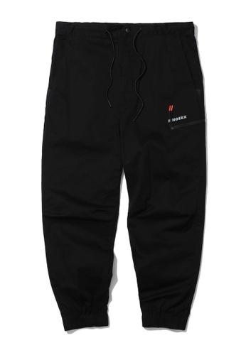 Fingercroxx black Drawstring tapered pants F0405AA5A38B3DGS_1