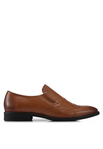 ACUTO brown Leather Dress Shoes AC283SH0SL5KMY_1