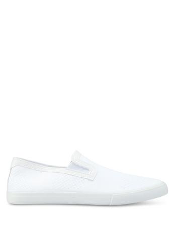 Topman white Keys Knit White Slip Ons 4B070SH6C63242GS_1