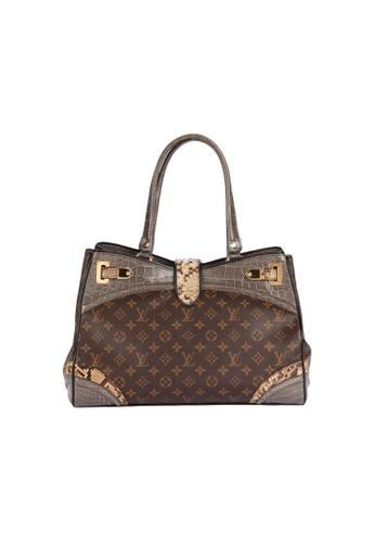Louis Vuitton brown Louis Vuitton Monogramissime GM size crocodile and python leather monogram E9DA2AC9F01BB7GS_1