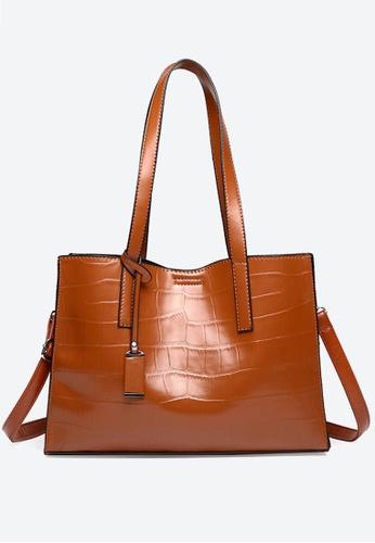 Halo brown Vintage Three Way Crossbody Bag A2A22AC449E4F9GS_1